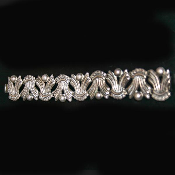 Mexican Silver Bracelet Taxco Vintage Link Bracelet