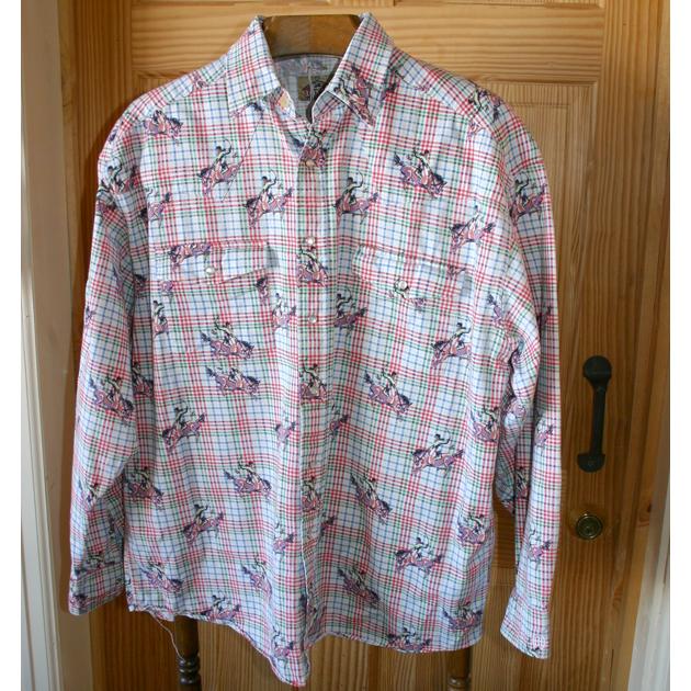 Men S Vintage Barn Fly Western Shirt Large Dancing